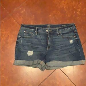 Cuff Jean Shorts